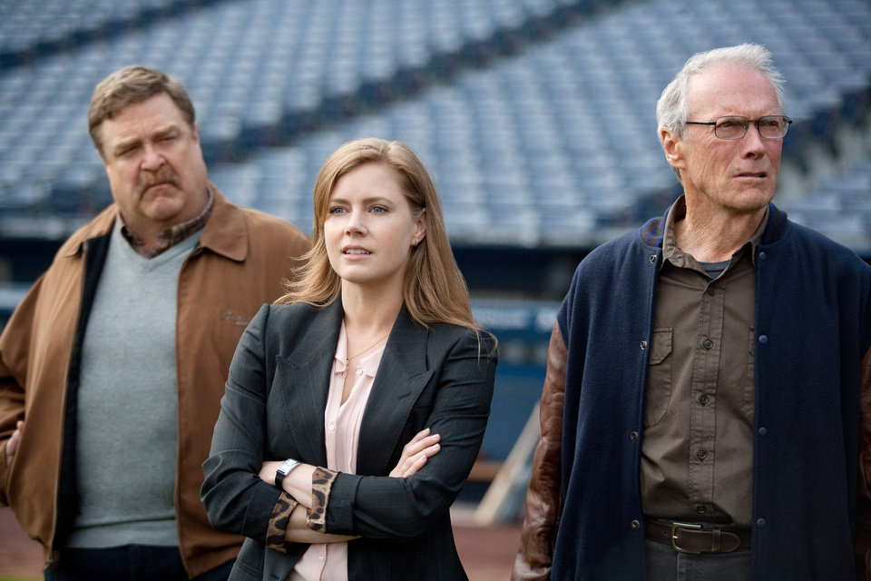 Photo - John Goodman, left, Amy Adams and Clint Eastwood in a scene from