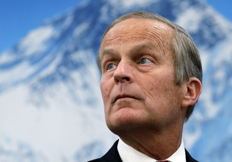 In this Oct. 30, 2012 photo, Republican U.S Senate candidate Todd Akin appears at a campaign event in Lee\'s Summit, Mo. Akin is running against Democrat Claire McCaskill for Missouri\'s Senate seat. (AP Photo/Charlie Riedel)