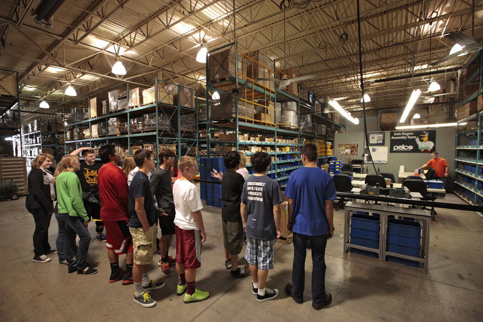Pelco Products Inc. in Edmond played host for tours of students from Cimarron Middle School Friday part of National Manufacturing Day. <strong>David McDaniel - The Oklahoman</strong>