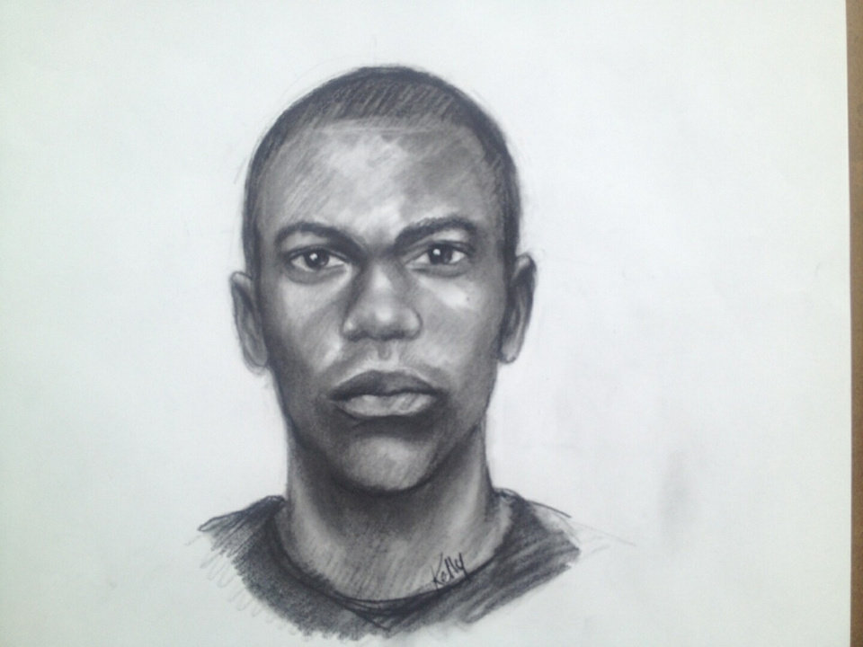 Photo - This image provided by Clayton County Police Department shows a sketch of one of two men suspected of abducing a 14 year old girl during a home invasion in Jonesboro, Ga.  Police early Tuesday, Sept. 17, 2013 were stopping cars and checking them during an all-out search for the girl. The two men pried open a back door of the home in the Ellenwood area around 2:15 a.m. Tuesday, Clayton County police said. The home invaders demanded money and jewelry, Clayton County police Officer Phong Nguyen said. When the woman said she didn't have any, one of the men shot and killed the family dog, he said. Police say the men then took 14-year-old Ayvani Hope Perez, who is 4 feet, 9 inches tall and 93 pounds. She's described as Hispanic, with brown eyes and black hair. She was wearing blue and grey Star Wars pajama bottoms and a blue and grey super hero shirt. The girl was last seen being taken from the home in a grey Dodge, police said.  (AP Photo/Clayton County Police Department)