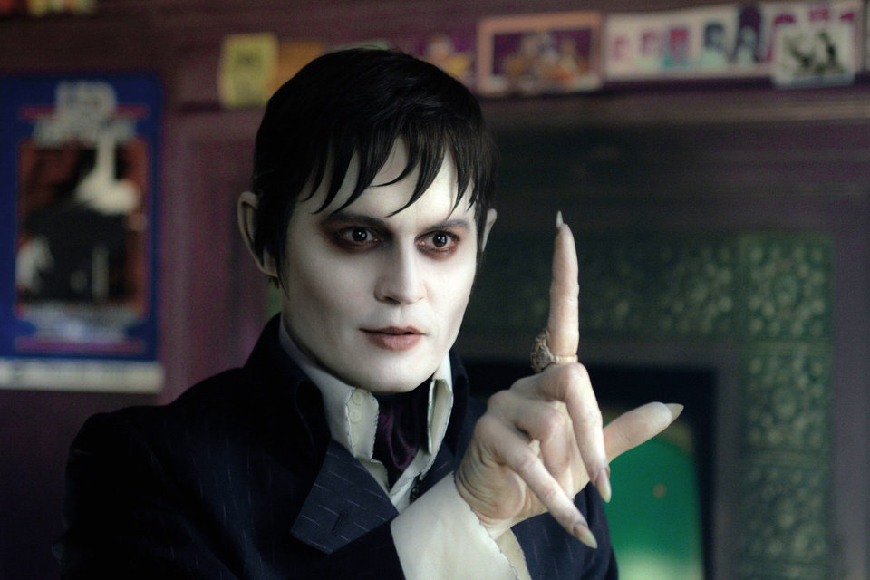 "In this film image released by Warner Bros., Johnny Depp portrays Barnabas Collins in a scene from ""Dark Shadows."" (AP Photo/Warner Bros., Peter Mountain)"