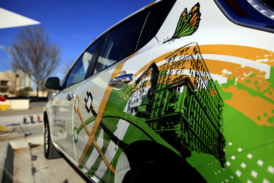 Photo - Oklahoma City officials have added two electric cars to the city fleet in an effort to cut down on fuel costs.  SARAH PHIPPS - The Oklahoman