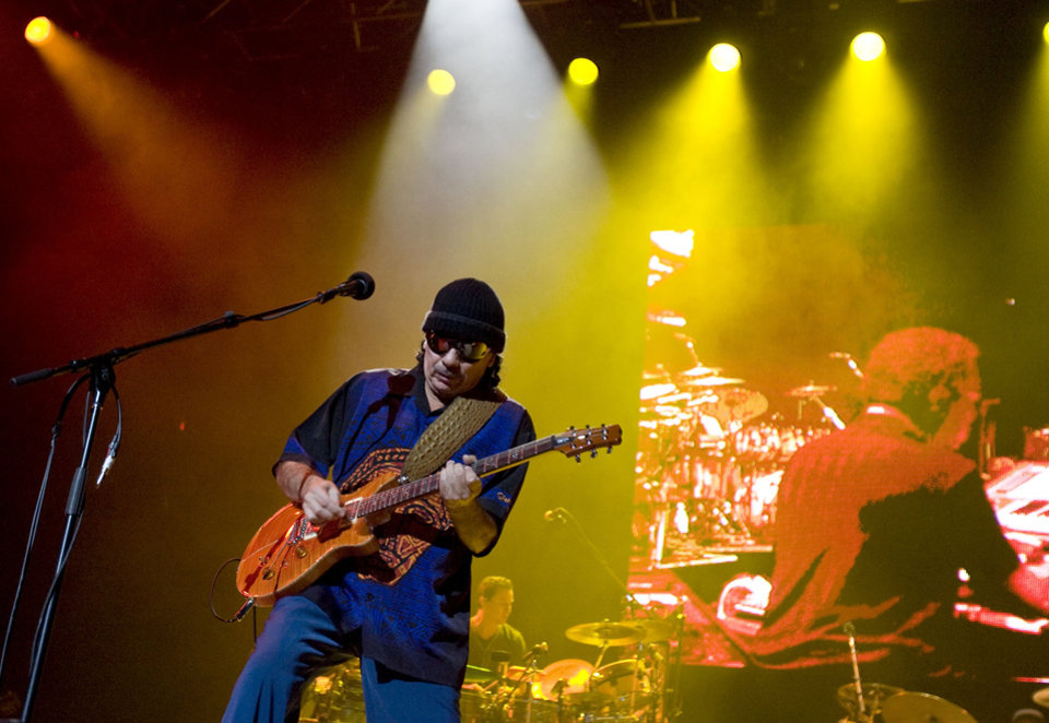 Carlos Santana plays at the Ford Center, Tuesday, September, 16, 2008, in Oklahoma City. BY SARAH PHIPPS, THE OKLAHOMAN.