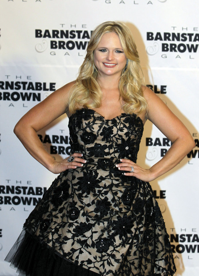 Miranda Lambert arrives at the Barnstable Brown Derby party Friday, May 4, 2012, in Louisville, Ky. The 138th Kentucky Derby will be held Saturday, May 5. (AP Photo/Darron Cummings)