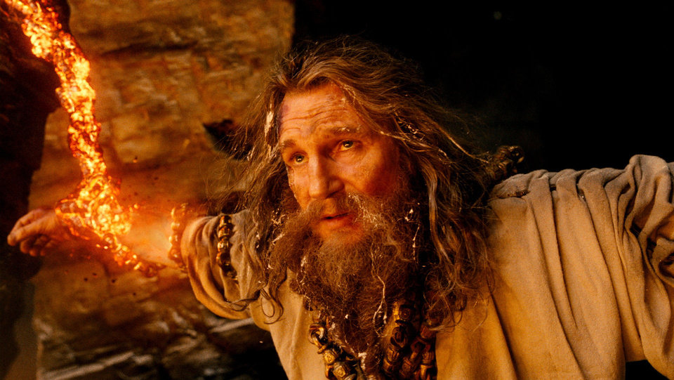 Photo - In this film image released by Warner Bros., Liam Neeson portrays Zeus in a scene from