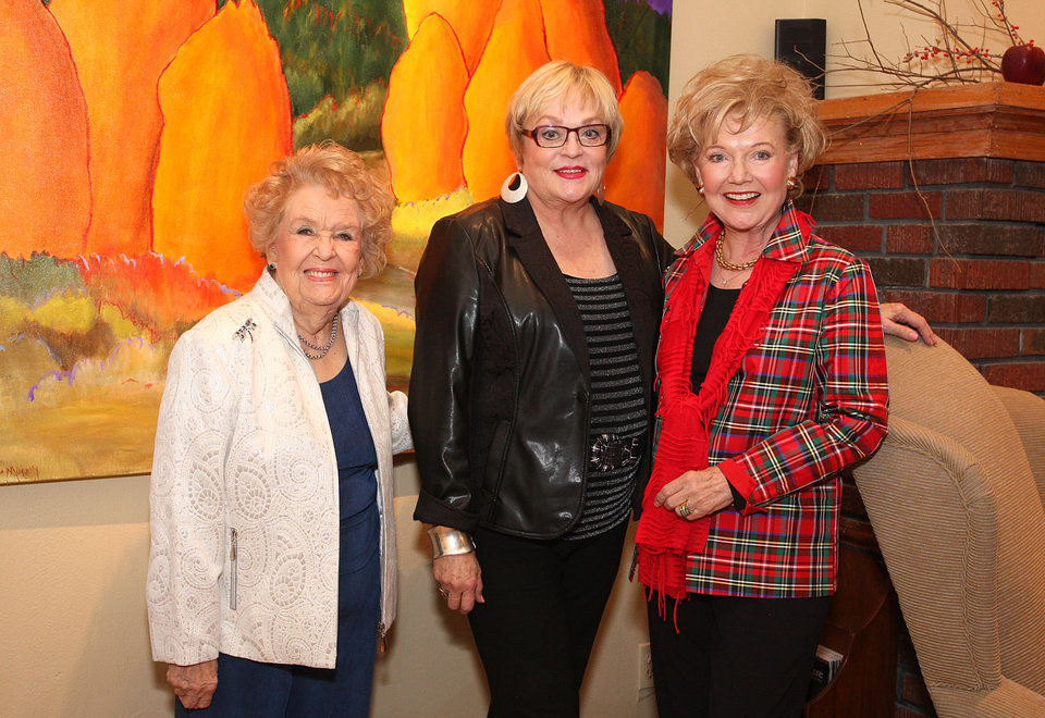 Photo - Regina Murphy, Joy Reed Belt, Patty Murphy Newman. Photo by David Faytinger for the Oklahoman____