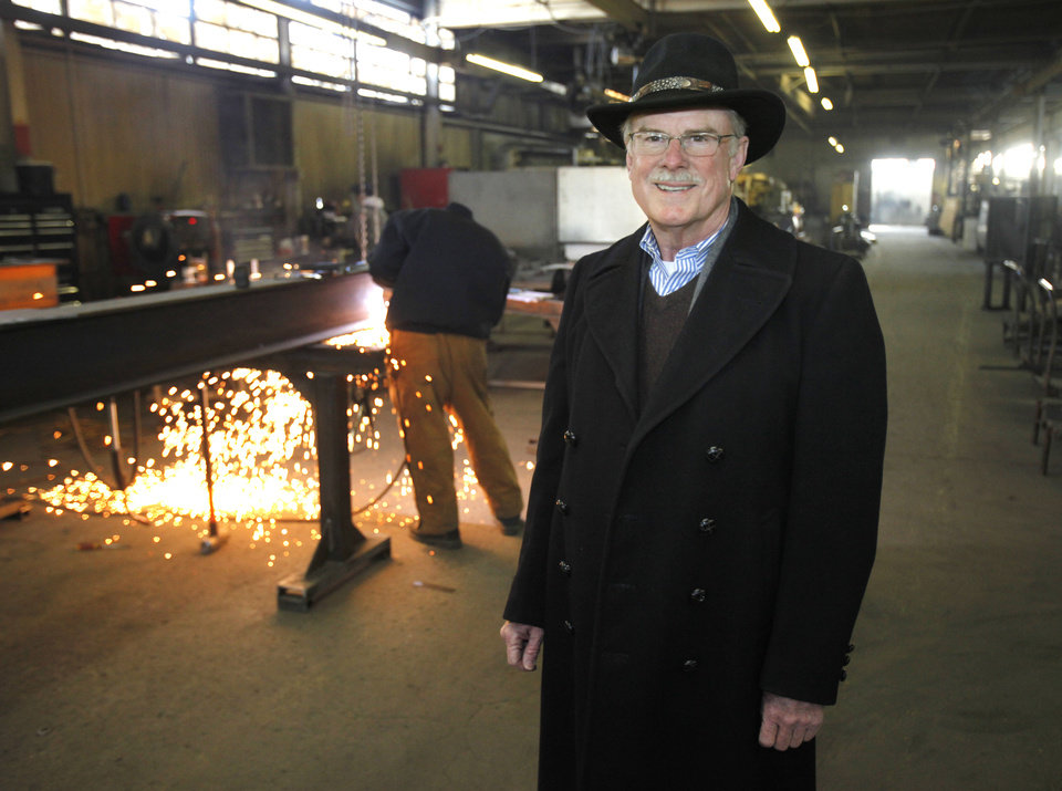 Jerry Hocker, commercial real estate broker and owner of Coldwell Banker Select-Hocker & Associates, is assisting with the sale of Smico Manufacturing Co. in Oklahoma City, OK, Thursday, Jan. 12, 2012. By Paul Hellstern, The Oklahoman