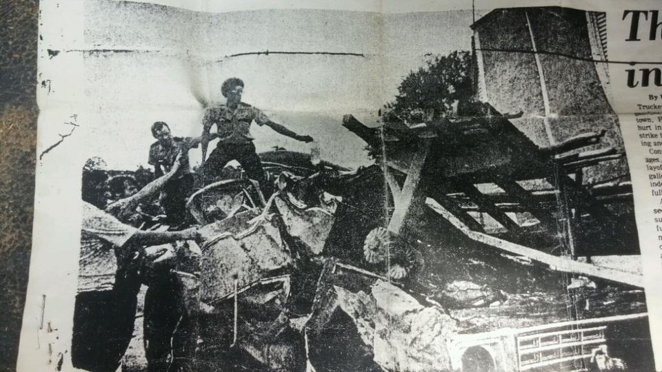 Photo -  LEFT: A photo from the Texarkana Gazette shows first responders working to save Laura Daily's life after an accident on Interstate 30 June 24, 1979, near Texarkana, Texas. Daily's mother, Jo Carter, did not survive the accident and Daily was left with a serious brain injury that wiped out her memories, including all recollections and feelings of her mother. PHOTO PROVIDED
