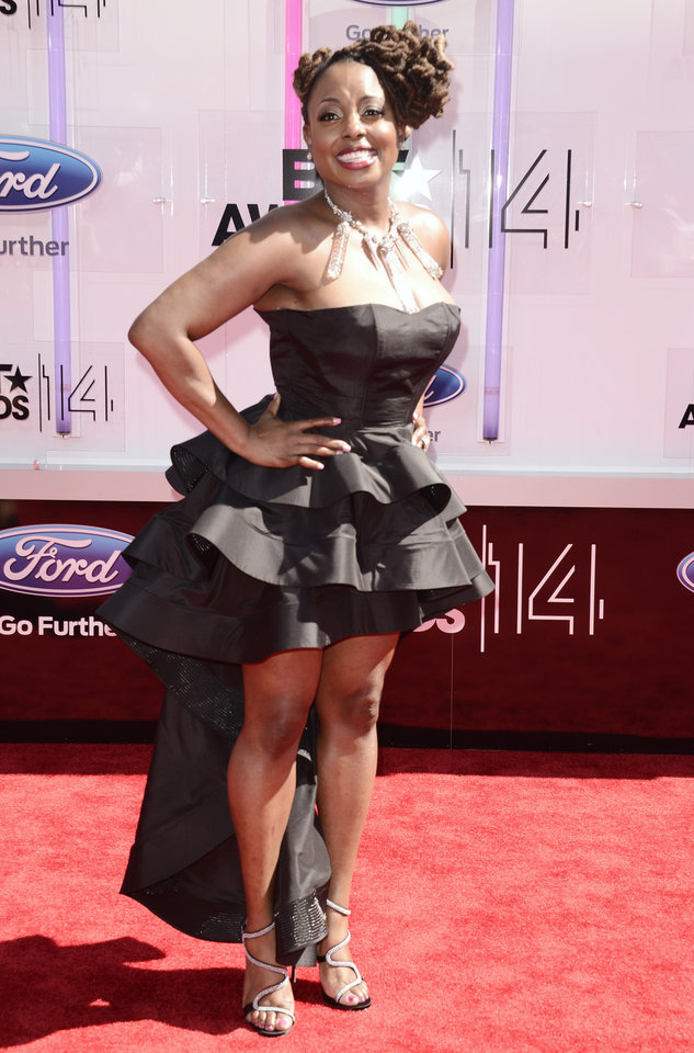 Photo - Ledisi arrives at the BET Awards at the Nokia Theatre on Sunday, June 29, 2014, in Los Angeles. (Photo by Dan Steinberg/Invision/AP)