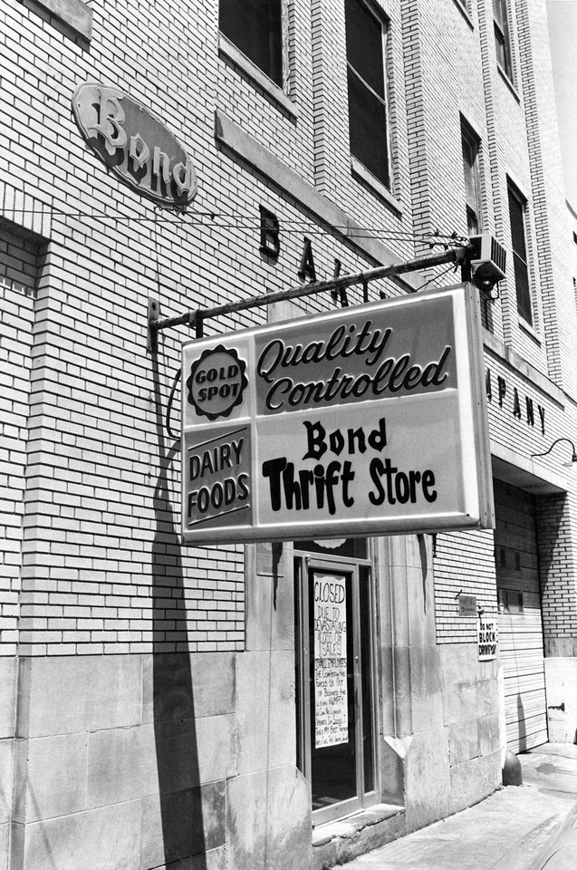 Photo - BUILDING EXTERIOR / BAKERY / BOND BAKING COMPANY: Potential purchasers expect to tour bakery this week. Staff photo by Doug Hoke. Published in The Daily Oklahoman 05/14/1978, negative dated 05/11/1978.