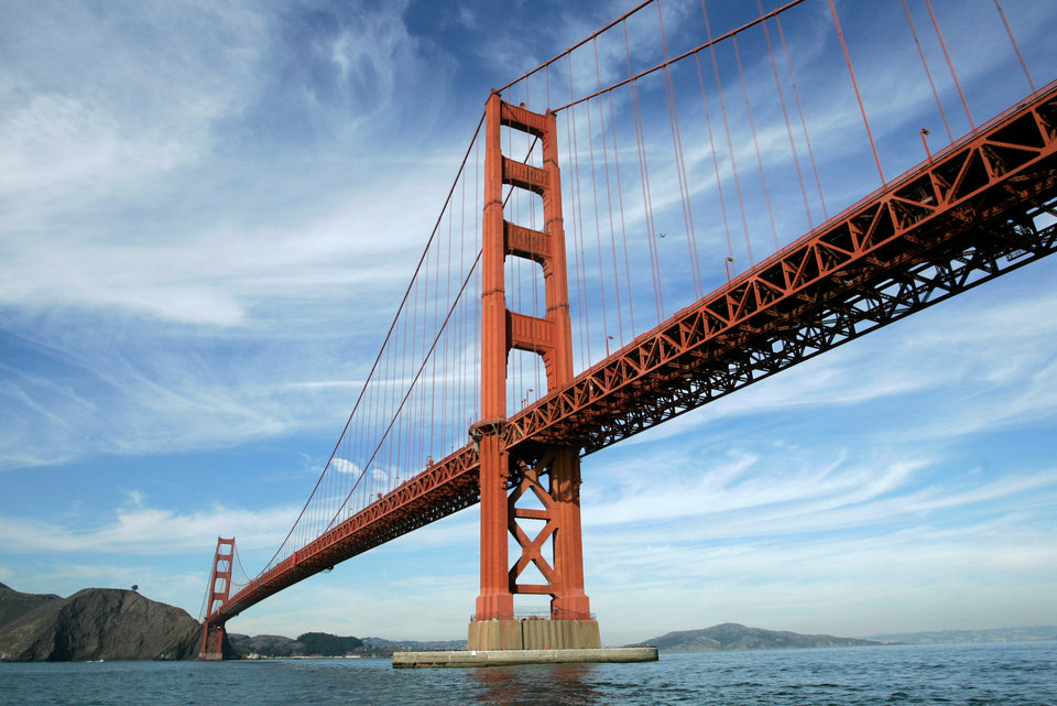 Photo - FILE - In this file photo from Nov. 15, 2006, the Golden Gate Bridge is shown in San Francisco. On Friday, June 27, 2014, Golden Gate Bridge officials are expected to approve a funding package for a $76 million suicide barrier. (AP Photo/Eric Risberg, File)
