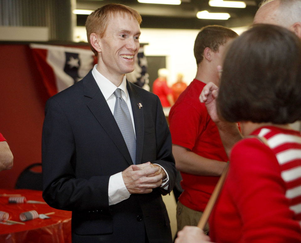 James Lankford talks to supporters during his watch party for the Republican primary elections of the 5th Congressional District seat in Oklahoma City, Tuesday, July 27, 2010.  Photo by Bryan Terry, The Oklahoman