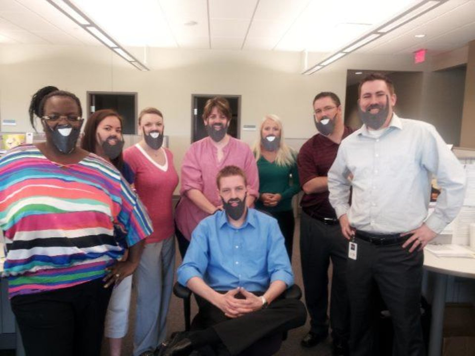 Officemates in Michigan #FearTheBeard.