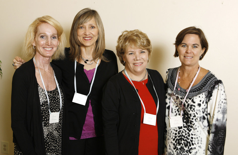 Carrie Katigan, Vicki Williams, Beth Kerr, Anne Collins. PHOTO BY PAUL B. SOUTHERLAND, THE OKLAHOMAN PAUL B. SOUTHERLAND