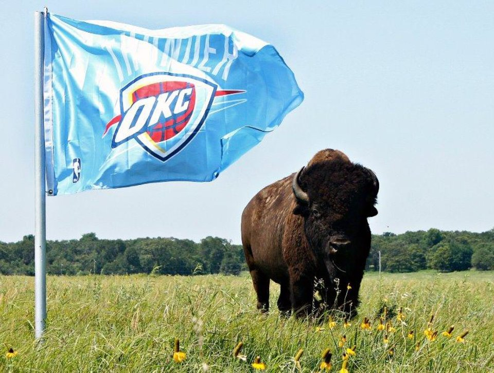The hairiest Thunder fan in Oklahoma?