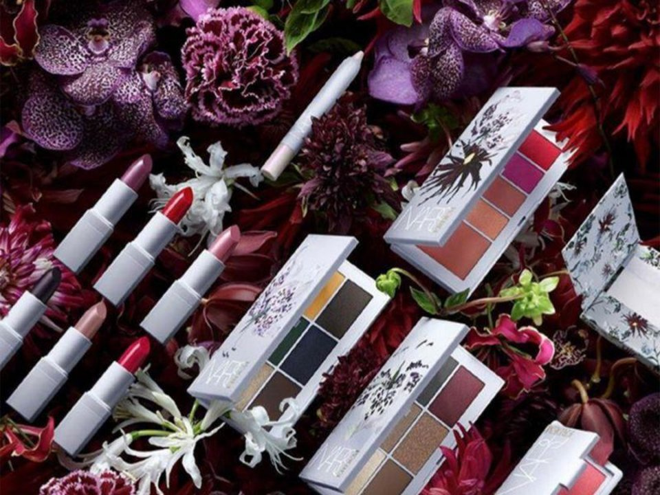 Photo - Products from the new Erdem X NARS beauty collaboration.