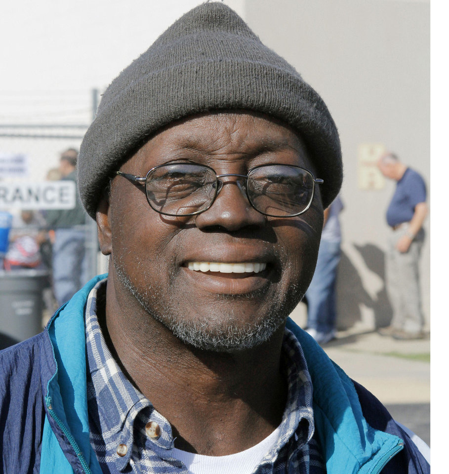 "Photo - Geno Taylor The Midwest City resident said he preferred the status quo. ""I figured that Obama wants to continue doing what he's doing. You need to let him continue."""