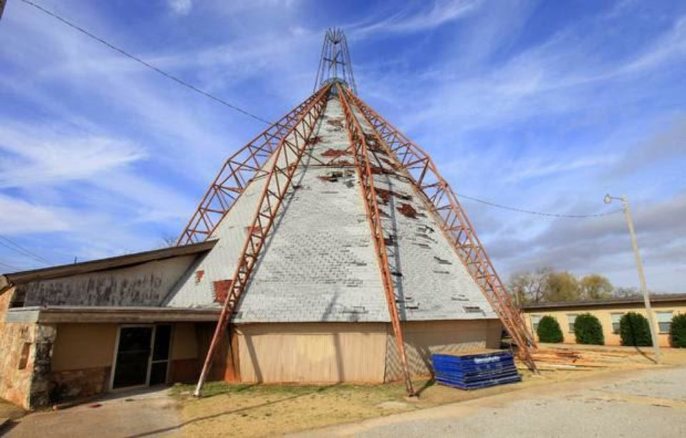 Photo - Here is a shot of the historic tepee church in northwest Oklahoma County  THE OKLAHOMAN - PAUL SOUTHERLAND