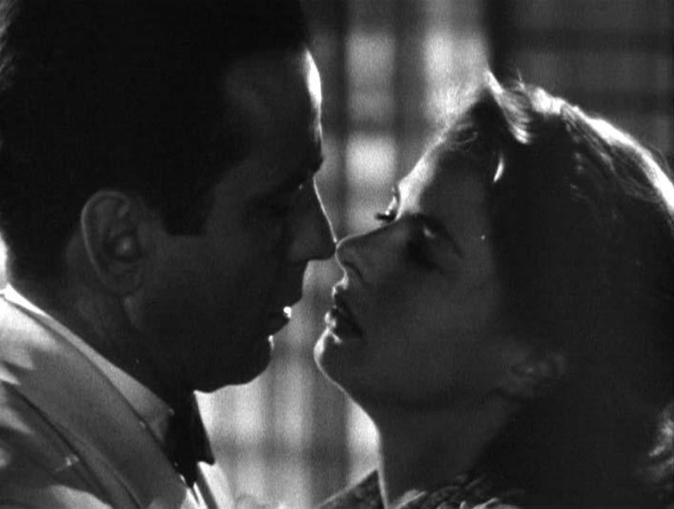 """We'll always have Paris."" Humphrey Bogart and Ingrid Bergman in the classic movie ""Casablanca."""