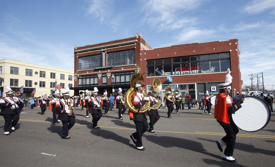 Photo - The Langston University marching band performs in the Martin Luther King Jr. Day Parade in Oklahoma City, Oklahoma January 18, 2010. Photo by Steve Gooch, The Oklahoman ORG XMIT: KOD