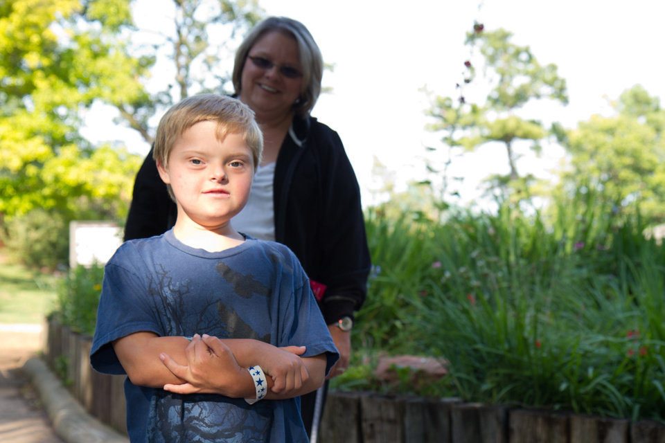 Lori Wathen and her 9-year-old son, Reis at the Oklahoma City Zoo. Photo by Steven Maupin, for The Oklahoman <strong>Steven Maupin</strong>