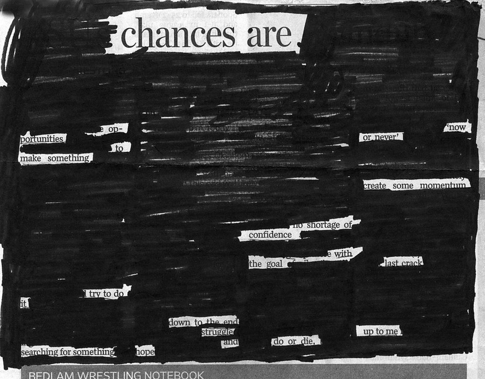Photo - BLACKOUT POETRY CONTEST / POEM: