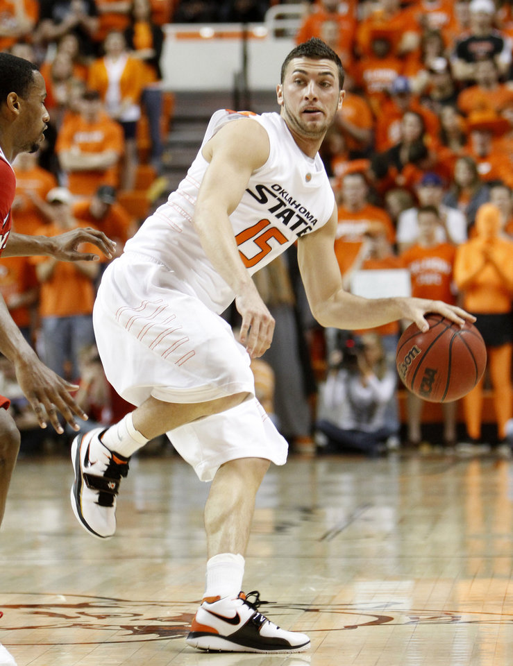 Photo -  Nick Sidorakis was named the captain of Oklahoma State's basketball team this week. Photo by Doug Hoke, The Oklahoman
