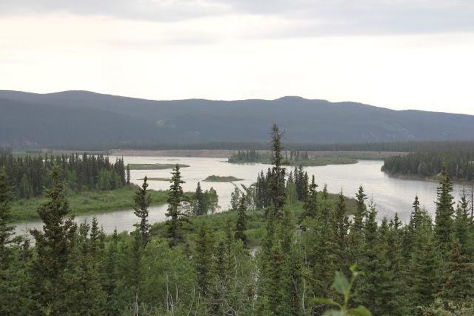 Canada's Yukon River has many braided channels. Stillwater's Steven Price along with professional adventurer Colin Angus recently traveled the 440-mile stretch of the river between White Horse and Dawson City for two days in a rowboat without setting foot on shore. Photo by Steven Price