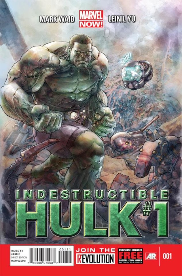 "This comic image released by Marvel Entertainment shows the cover of the upcoming ""Indestructible Hulk,"" part of Marvel Comics� new initiative aimed at recharging the publisher�s heroes and villains. (AP Photo/Marvel Entertainment)"