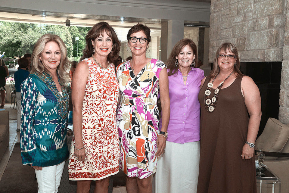 Photo - Caryl Cherry, Sara Northwood, Leigh Ann Albers, Lory Randolph, Maureen Crook. Photo by David Faytinger, for The Oklahoman