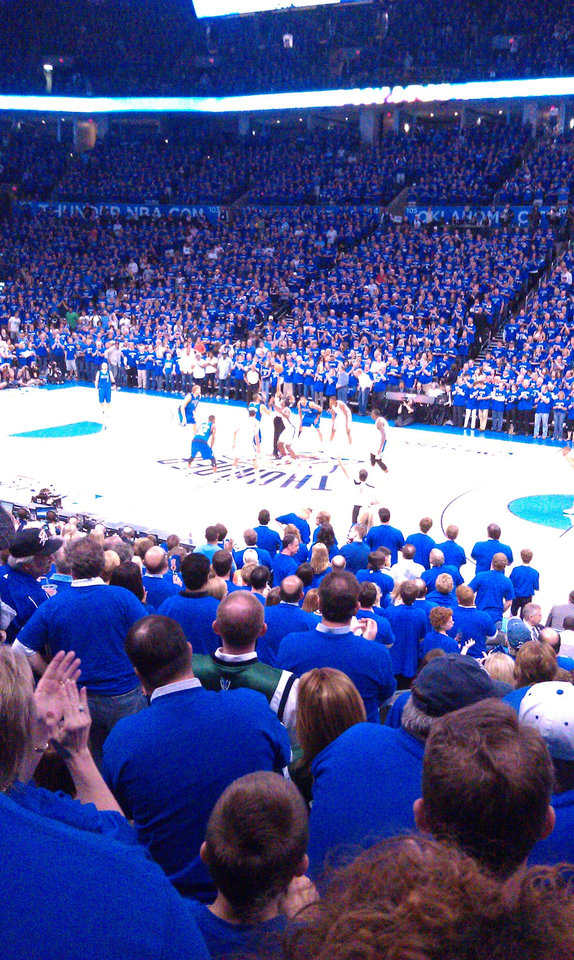 Thunder mavs game 4 tip off
