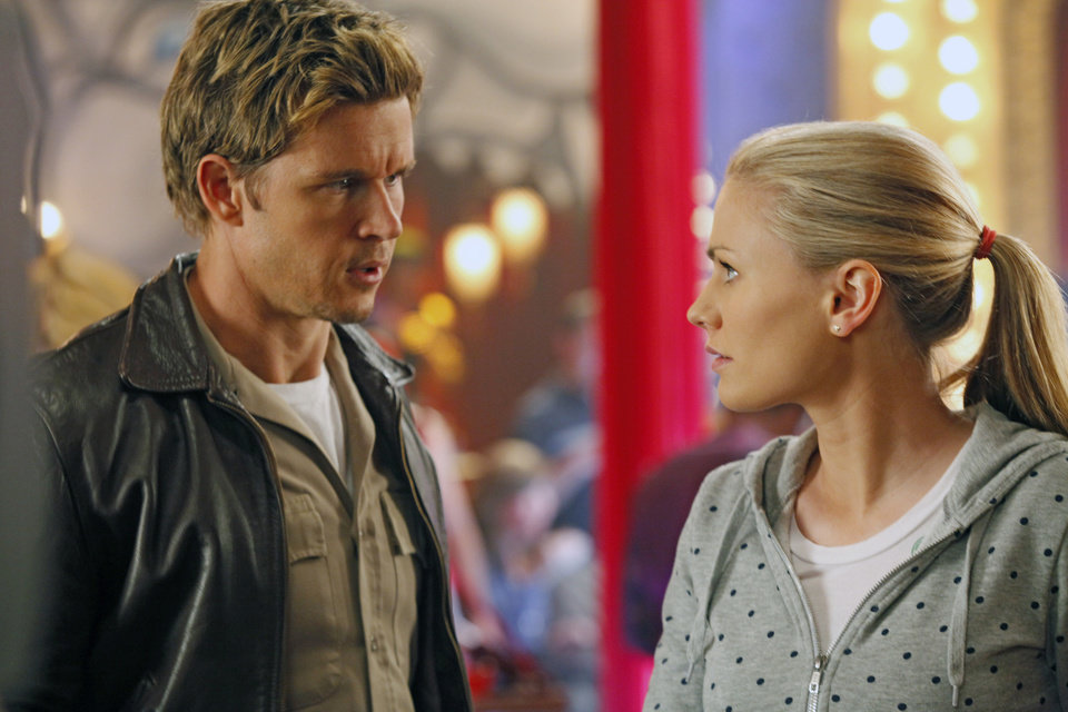 Photo -  TRUE BLOOD episode 54 (season 5, episode 6): Ryan Kwanten, Anna Paquin. photo: John P. Johnson