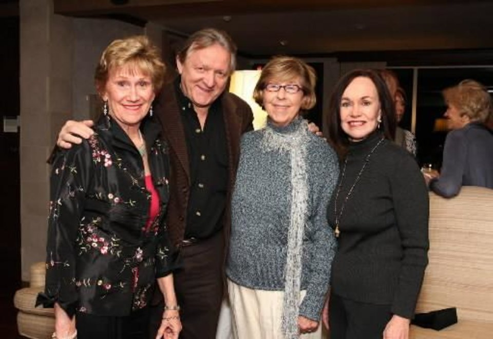 Linda Kennedy Rosser, James Ragan, Jeanne Hoffman Smith, Connie Fuller. PHOTO BY DAVID FAYTINGER, FOR THE OKLAHOMAN