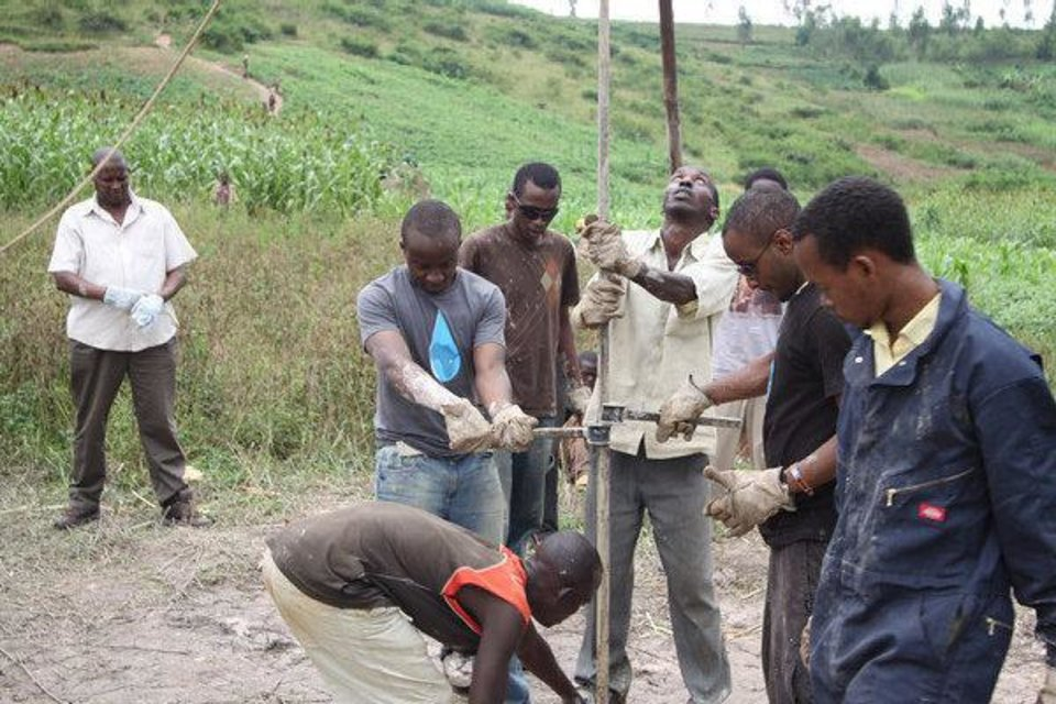 Oklahoma Christian University students, many of them from Rwanda, helped drill water wells in the African country during a recent mission trip. PHOTO PROVIDED BY OKLAHOMA CHRISTIAN UNIVERSITY <strong>PROVIDED</strong>