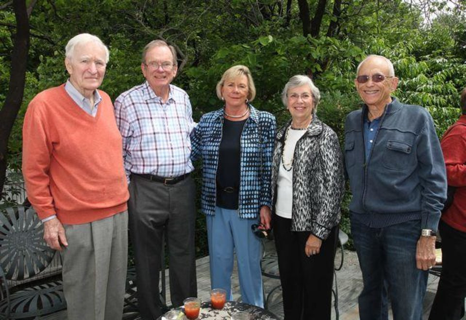 Among the guests were Louie Trost, Dick and Anne Workman, Janice and Lee Segell. (Photo by David Faytinger).
