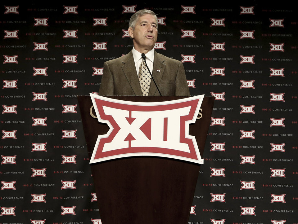 Big 12 commissioner Bob Bowlsby thinks some men's Olympic sports could end on the collegiate level due to upcoming funding changes. AP photo