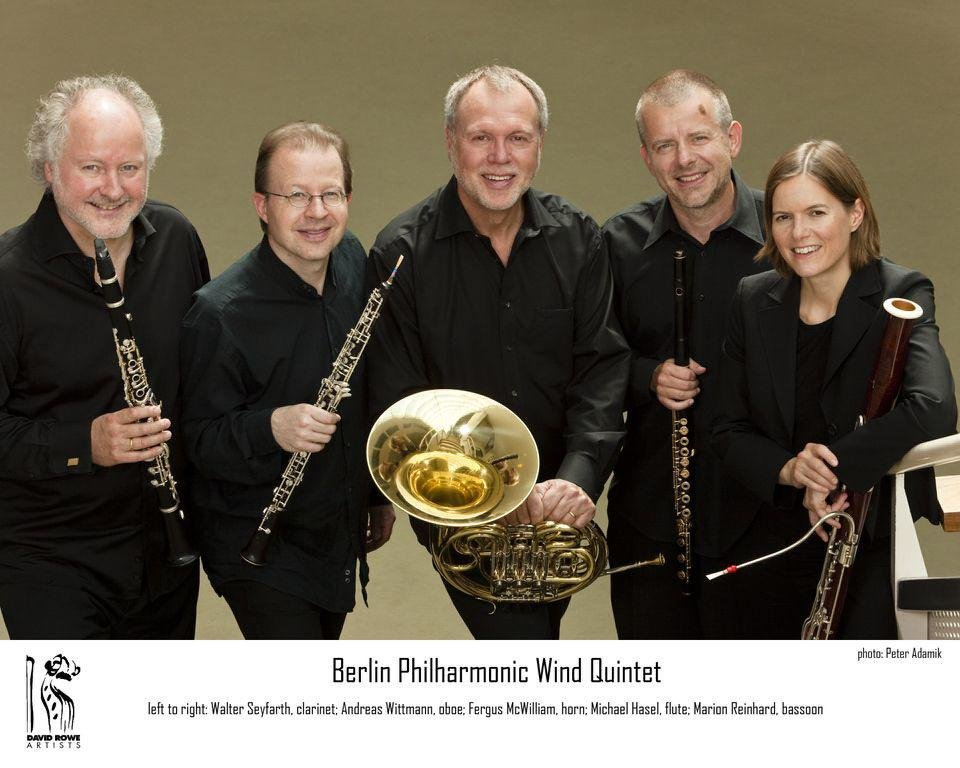 Above: The Berlin Philharmonic Wind Quintet  Photo provided