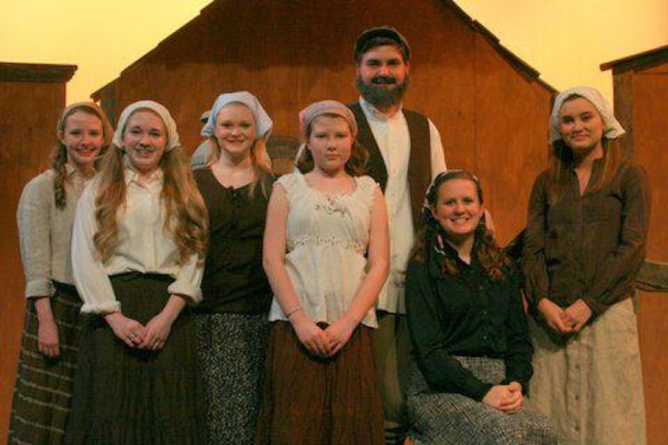 "Students in Bethany Public Schools will present ""Fiddler on the Roof"" at 7:30 p.m. Thursday, Friday and April 6 at Bethany High School, 4500 N Mueller Ave. Bethany students who will appear in ""Fiddler on the Roof"" are, from left, Morgan Rothwell, Addie Sanders, Courtney McPhail, Gloria Peters, Wendyle Andrews, Mady Martin and Madison Rund. Tickets are $10 for general admission. The play is under the direction of Annie Duggan and features students from Bethany High School, Bethany Middle School and Bethany Elementary.  PHOTO BY SAVANNA SPEAR"