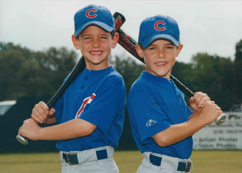 Twins Connor Knight, left, and Trevor Knight. PHOTO PROVIDED