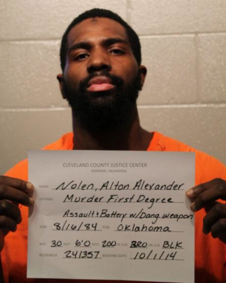 Photo -  Alton Alexander Nolen Nolen was charged Tuesday with first-degree murder.