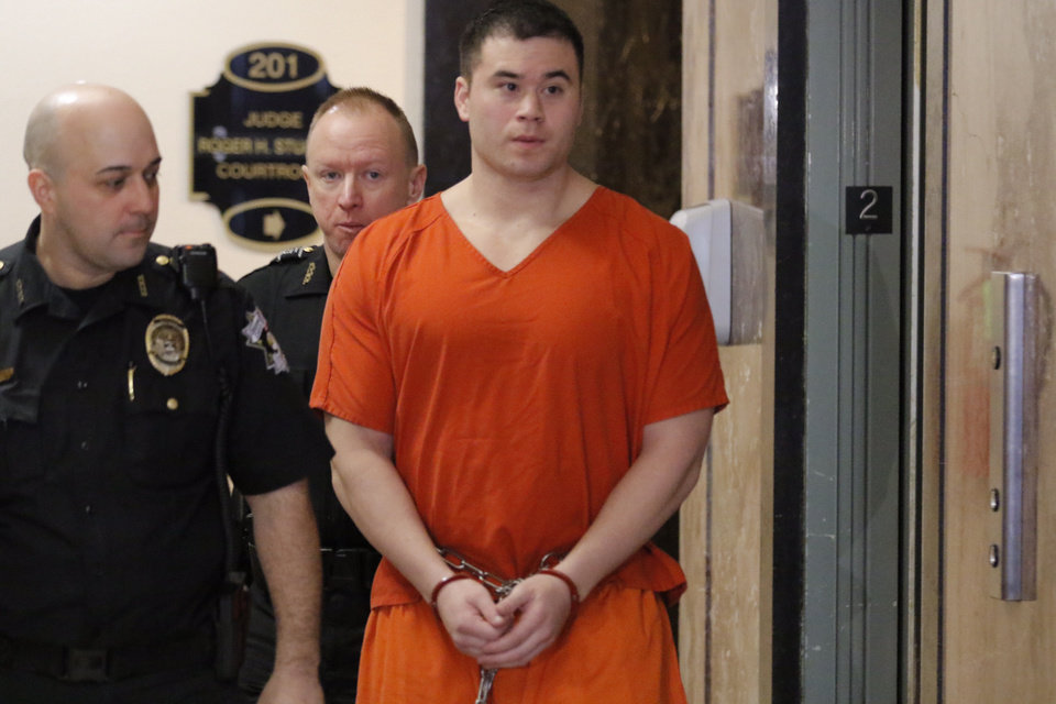 Photo - Daniel Holtzclaw arrives for his sentencing hearing on Thursday. Photo by Steve Gooch