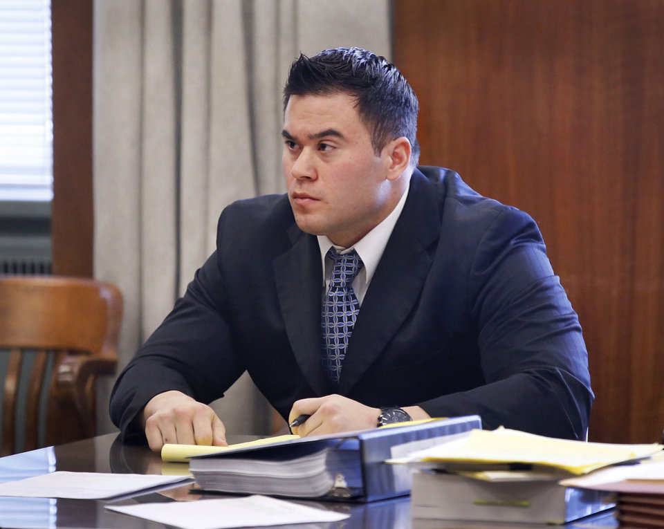Photo -  Oklahoma City police officer Daniel Holtzclaw, 27, is seen during his preliminary hearing Monday morning. Photo by Jim Beckel, The Oklahoman