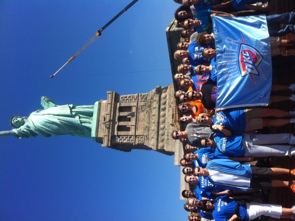 Woodward students show their Thunder love in the Big Apple!!!