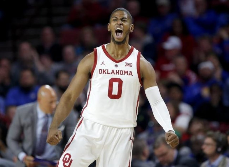 Photo -  Christian James hopes to get back on track for Oklahoma's NCAA Tournament basketball game against Ole Miss on Friday. [Sarah Phipps/The Oklahoman]