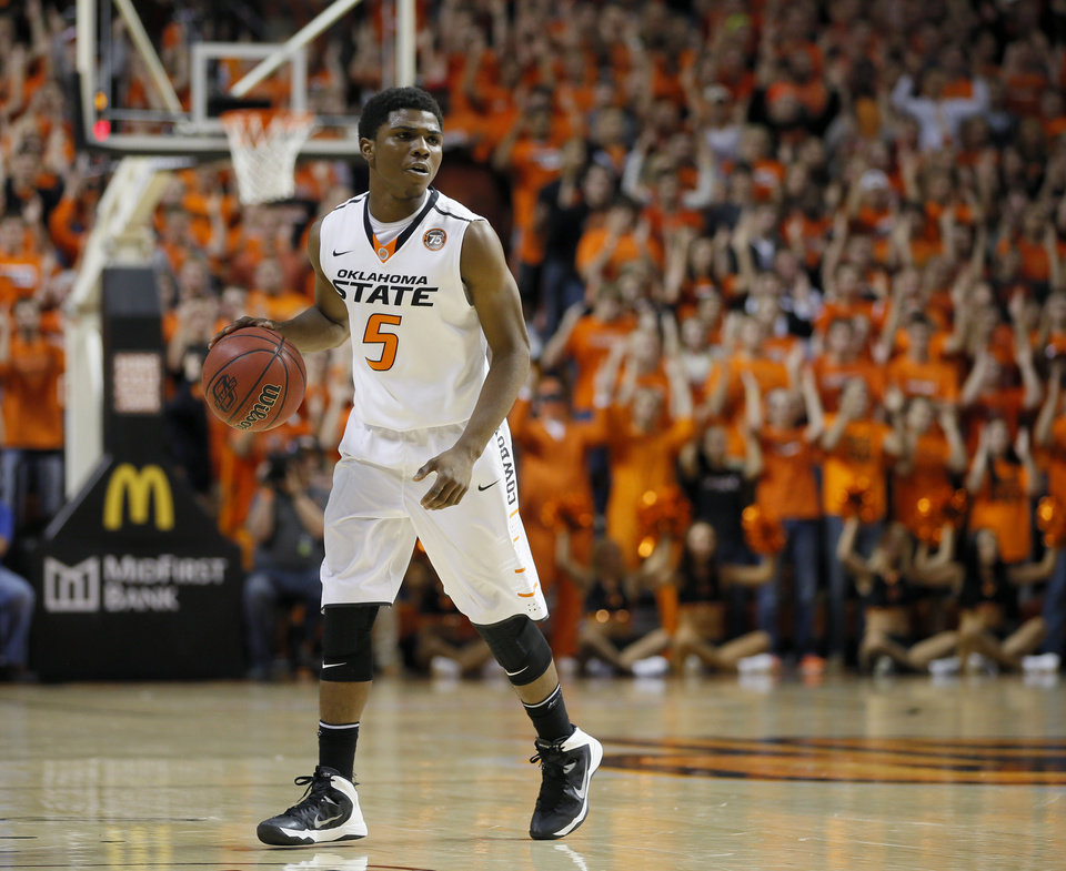 Oklahoma State guard Stevie Clark has been dismissed from the team in his first season in Stillwater. Photo by Bryan Terry, The Oklahoman