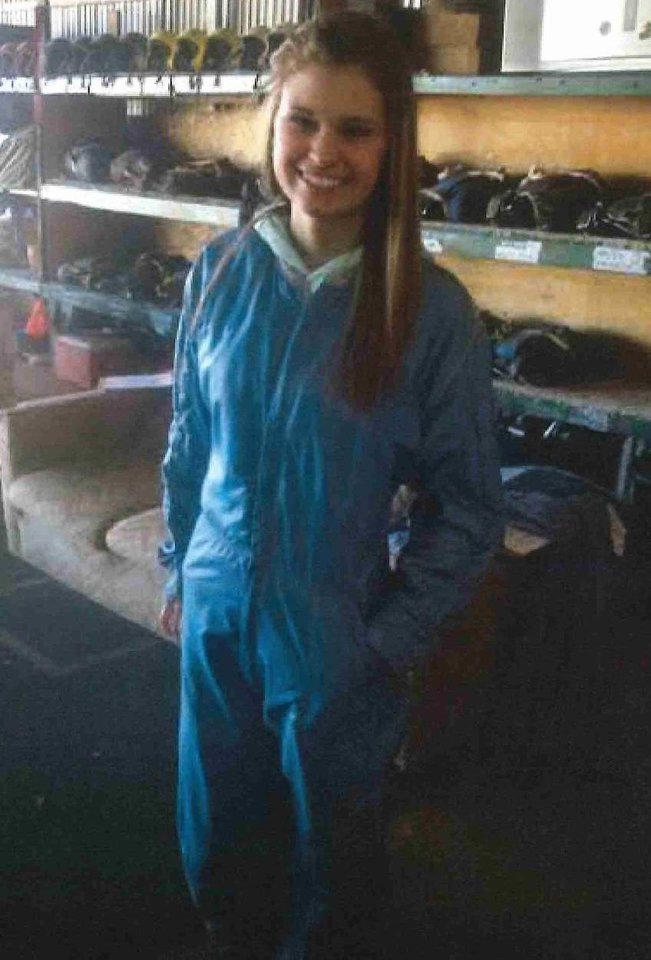 Photo -  Makenzie Wethington poses for a photo before skydiving Jan. 25, 2014. [Photo provided]