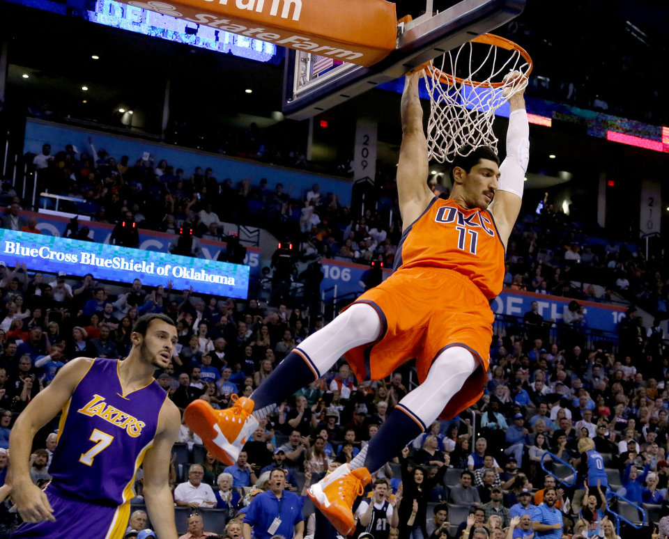 okc thunder journal  enes kanter caps cool weekend with
