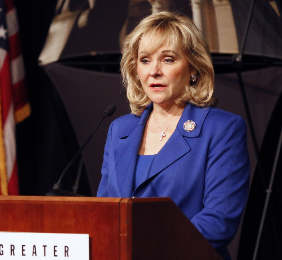 Photo - Gov. Mary Fallin. File photo by Paul Hellstern / The Oklahoman