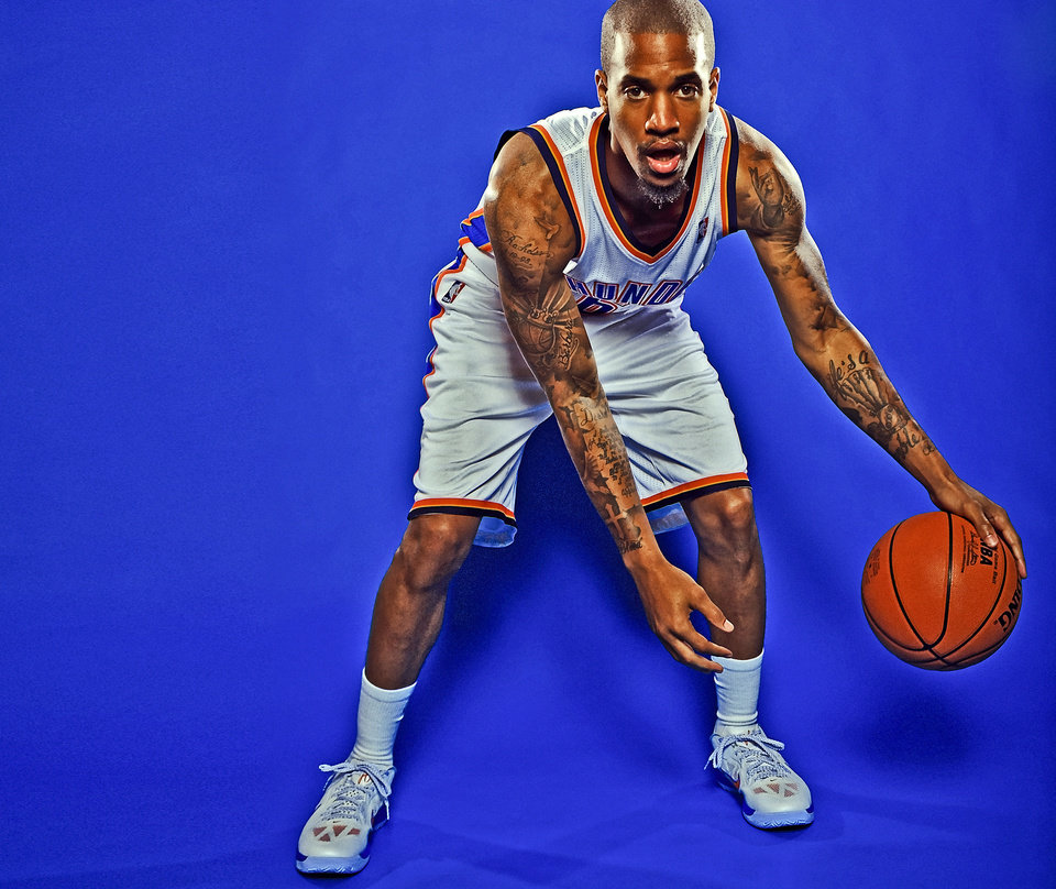 OKLAHOMA CITY THUNDER NBA BASKETBALL TEAM: Eric Maynor during Thunder Media Day photos on Monday, Oct. 1, 2012, in Oklahoma City, Oklahoma.  Photo by Chris Landsberger, The Oklahoman