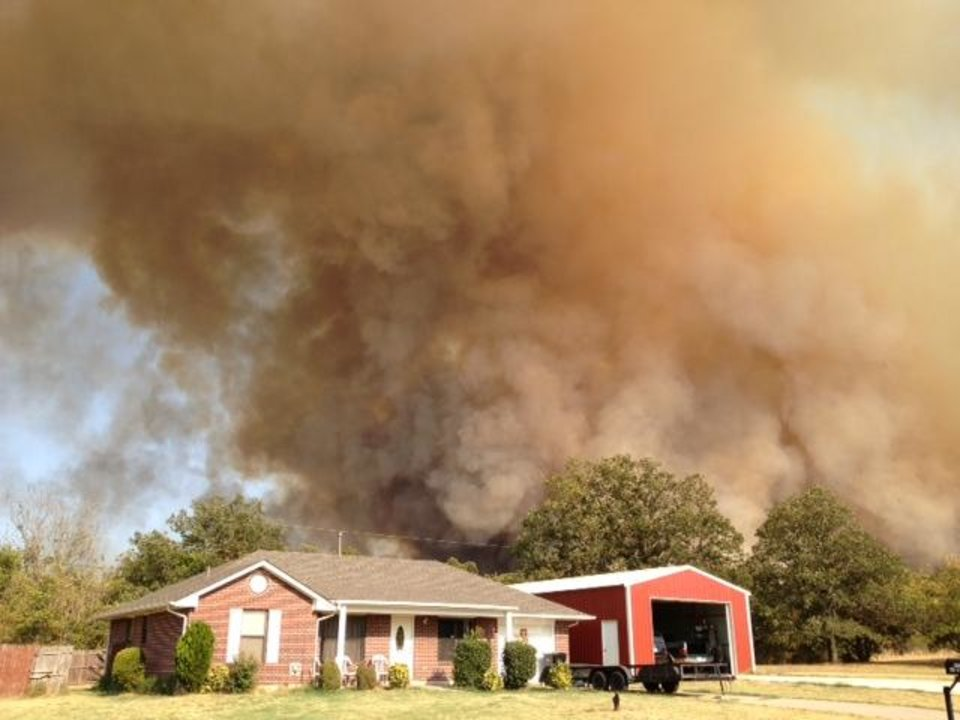 Luther wildfire. Photo by Sarah Phipps.